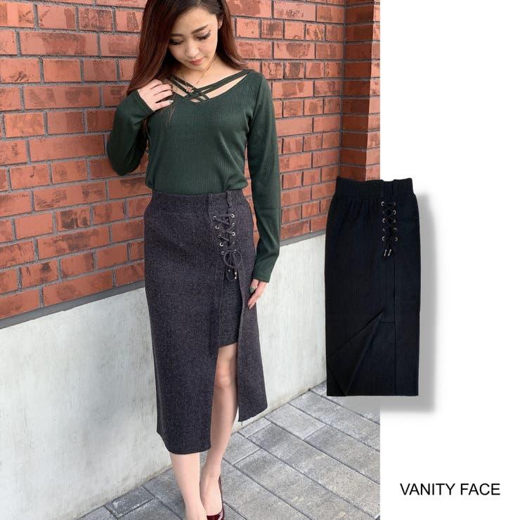 サイドスピンドルタイトスカートニット レディース スカート | VANITY FACE | 詳細画像1