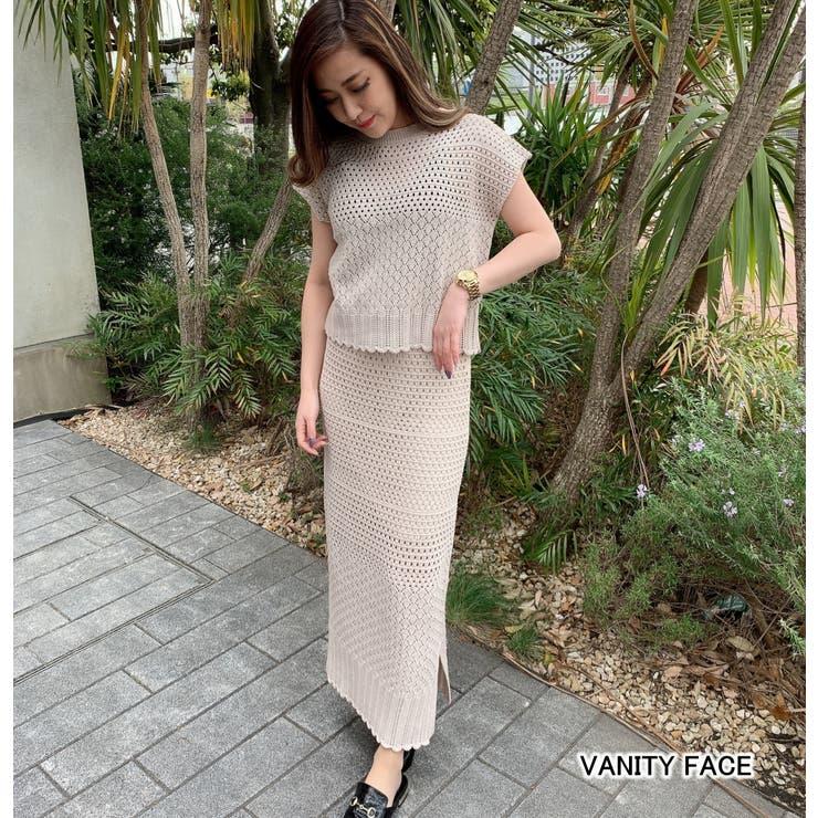 透かし編みスカートセットアップ クロシェ 編み | VANITY FACE | 詳細画像1