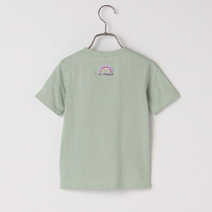 b・ROOM ロゴ・レインボー刺しゅう半袖Tシャツ   petitmain   詳細画像1