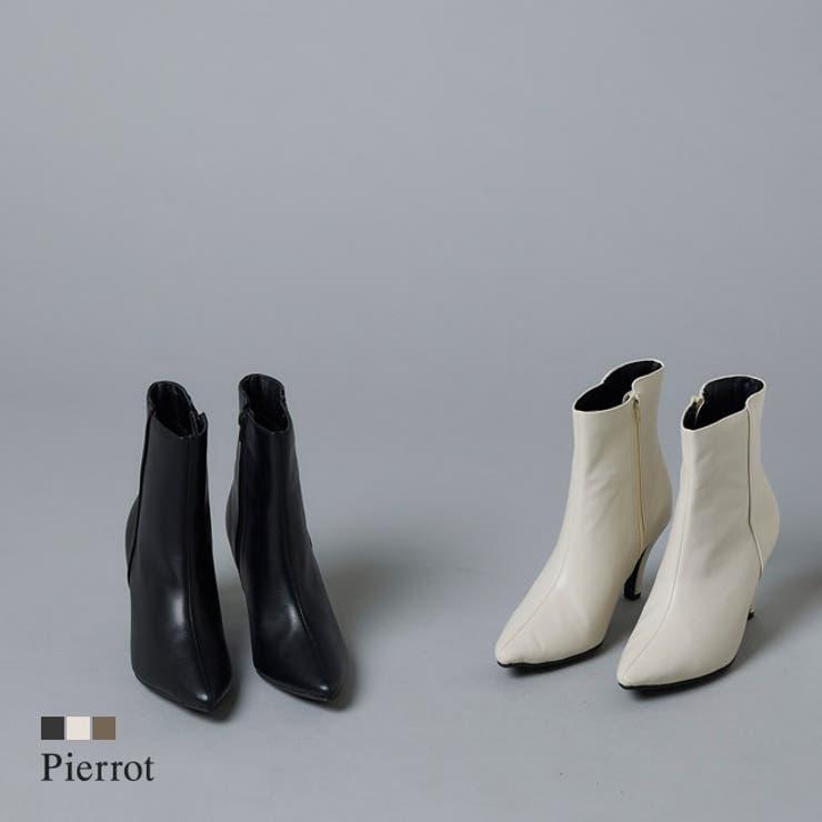 ポインテッドトゥミドル丈ブーツ ブーツ ポインテッドトゥ   pierrot   詳細画像1