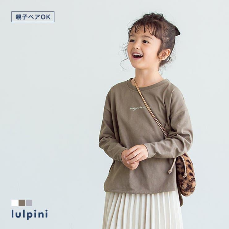 kids コットンロングスリーブロゴTシャツ Tシャツ   lulpini   詳細画像1