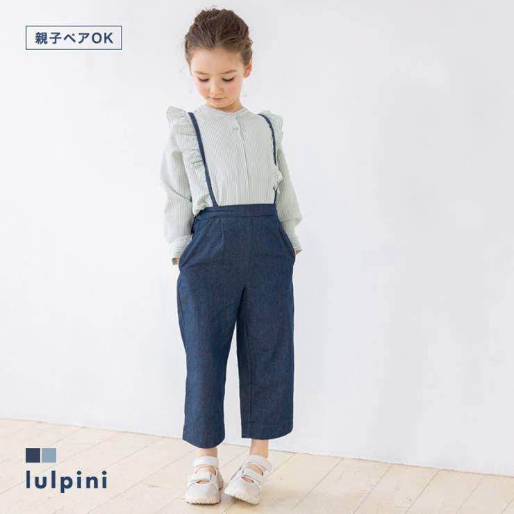 kids ソフトデニムストラップ付きタックパンツ パンツ   lulpini   詳細画像1