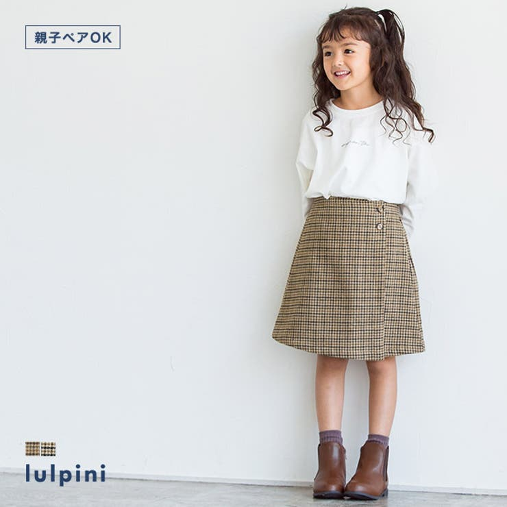 kids ウールタッチチェック柄スカート スカート | lulpini | 詳細画像1