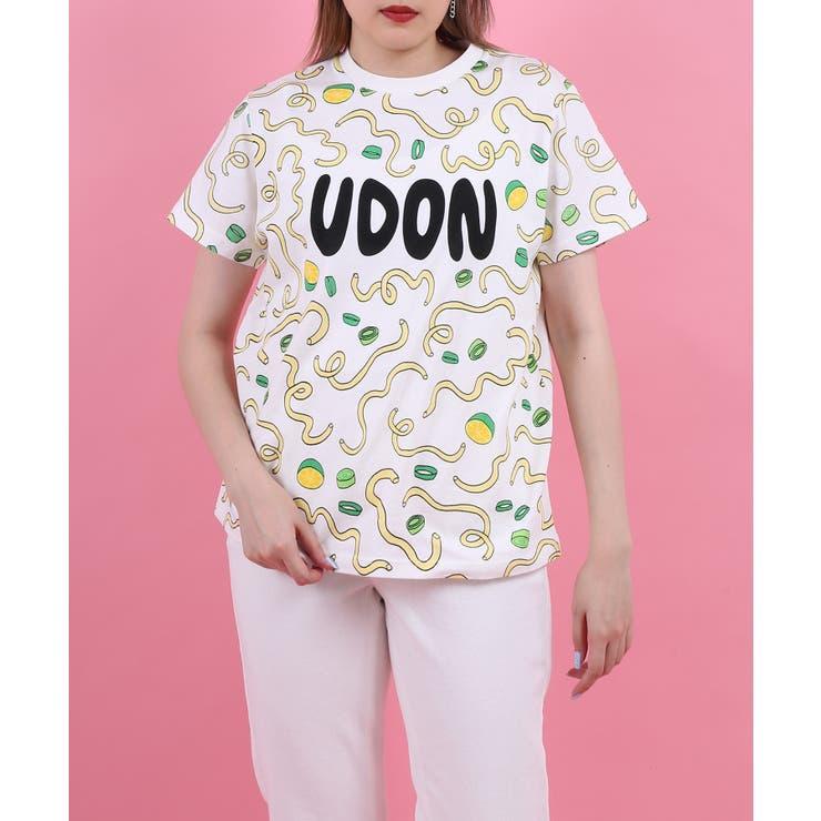 フード総柄Tシャツ(UDON) | PUNYUS  | 詳細画像1