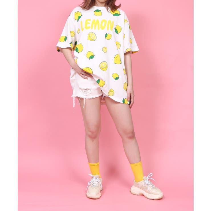 フード総柄Tシャツ(LEMON) | PUNYUS  | 詳細画像1