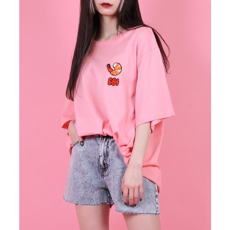 フードサガラ刺繍Tシャツ | PUNYUS  | 詳細画像1