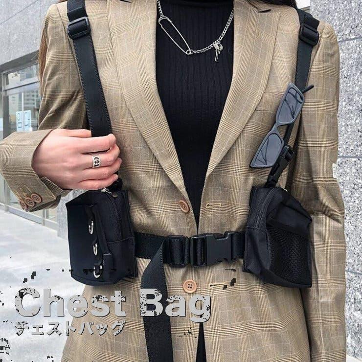 チェストバッグ ボディバッグ メンズ   RAiseNsE    詳細画像1