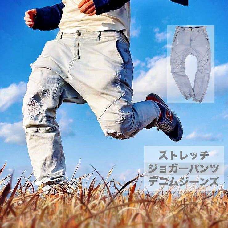 数量限定 ストレッチデニムジョガーパンツ メンズ   RAiseNsE    詳細画像1