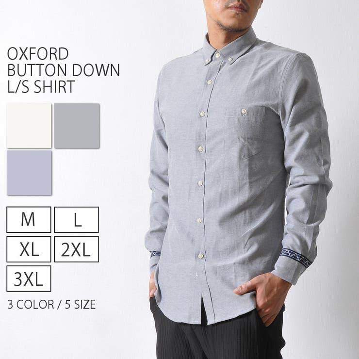 オックスフォード ボタンダウンシャツ ワンポイント | RAiseNsE  | 詳細画像1