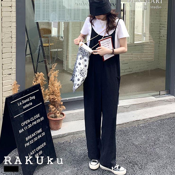 サラッと楽ちん大人のサロペット♪春 夏 秋   RAKUku   詳細画像1
