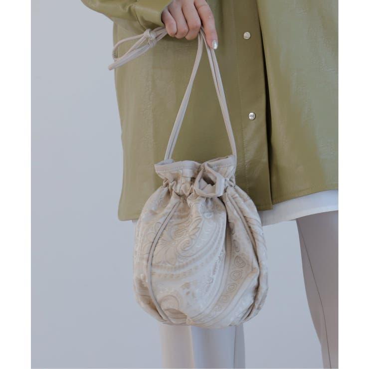 ジャガード巾着バッグ | Ray Cassin | 詳細画像1