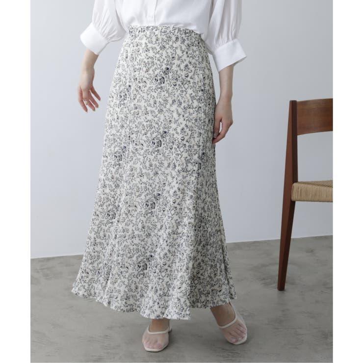 花柄プリーツマーメードスカート | Ray Cassin | 詳細画像1