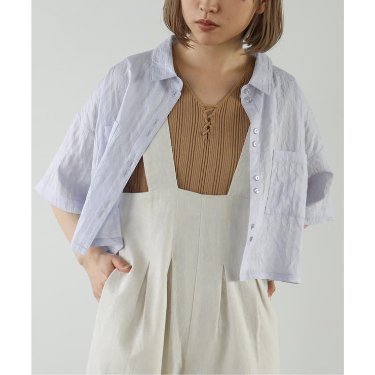ストライプショートシャツ | Ray Cassin | 詳細画像1