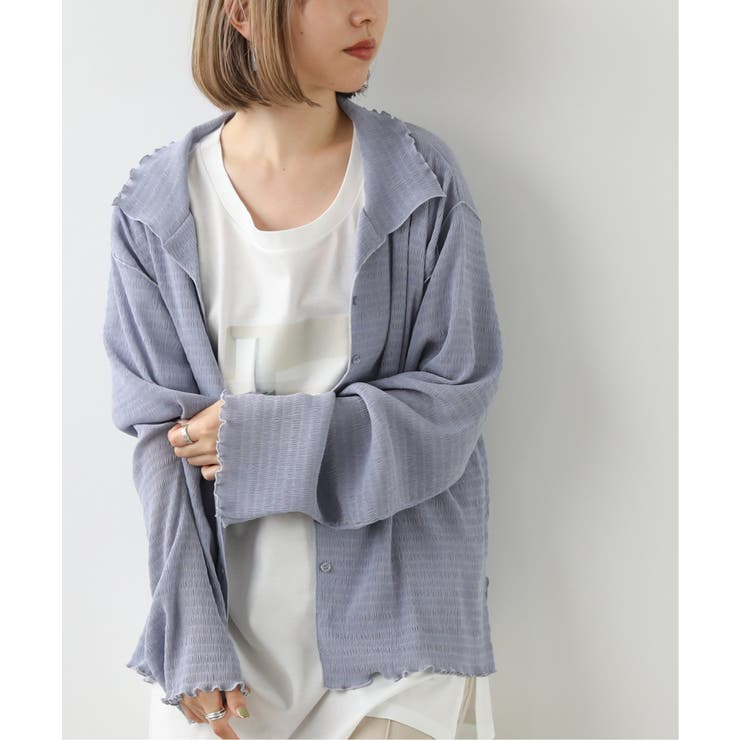 楊柳シアーメローゆるシャツ | Ray Cassin | 詳細画像1