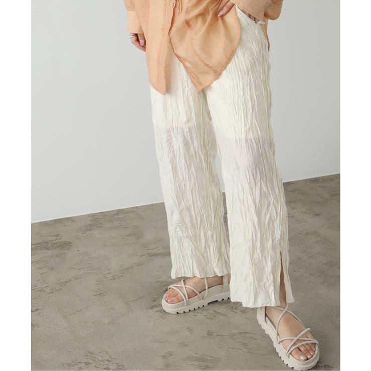 クリンクル裾メローイージーパンツ | Ray Cassin | 詳細画像1