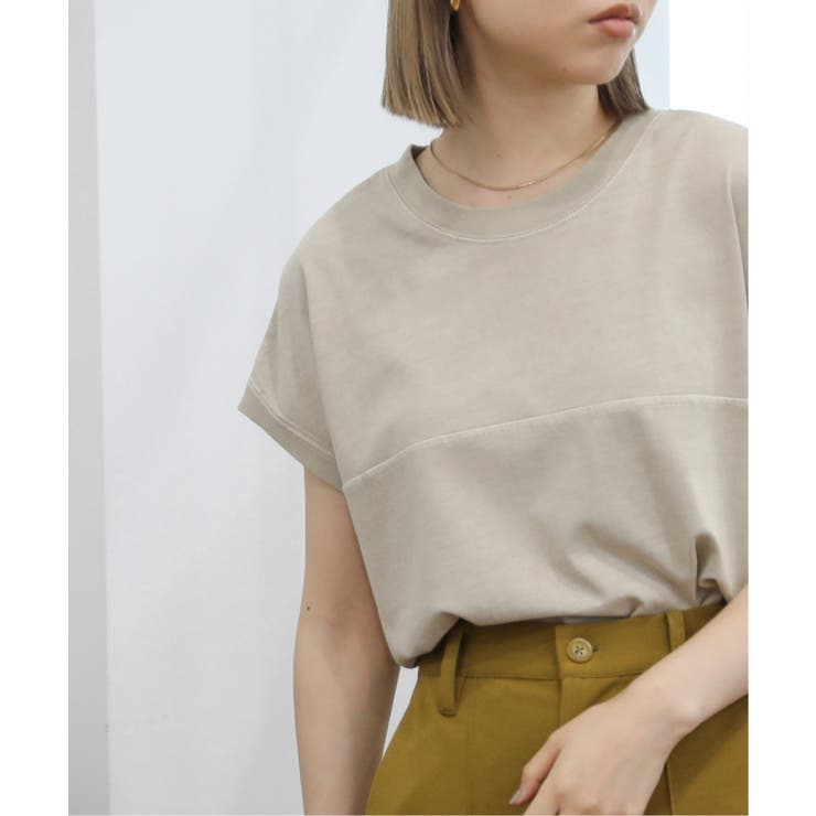 フレンチスリーブピグメント切替Tシャツ | Ray Cassin | 詳細画像1
