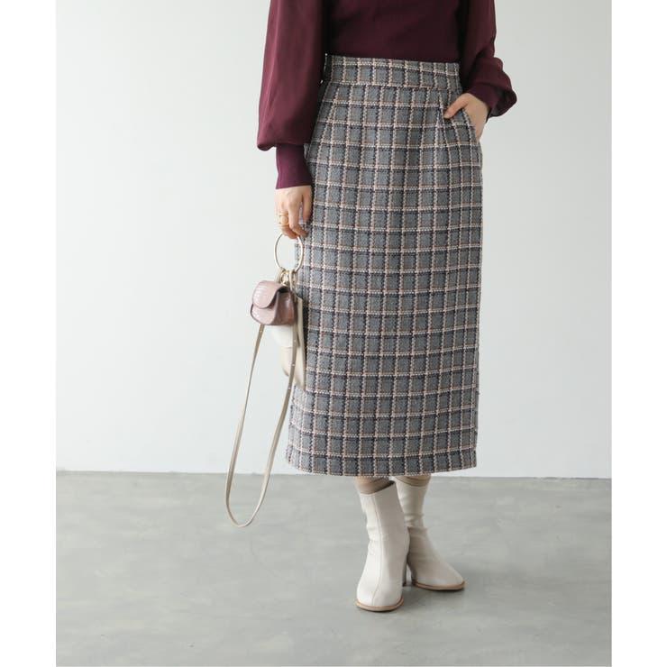 ツイードナロースカート | Ray Cassin | 詳細画像1