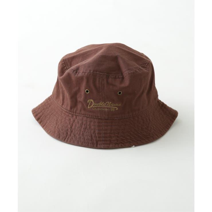 ロゴ刺繍バケットハット   DOUBLE NAME   詳細画像1