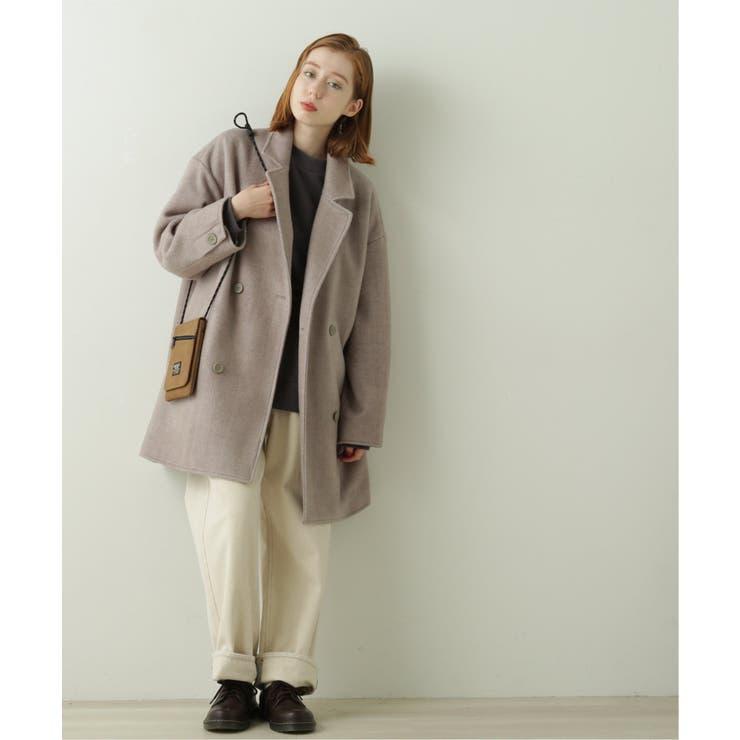ヘリンボーンゆるジャケットコート | DOUBLE NAME | 詳細画像1