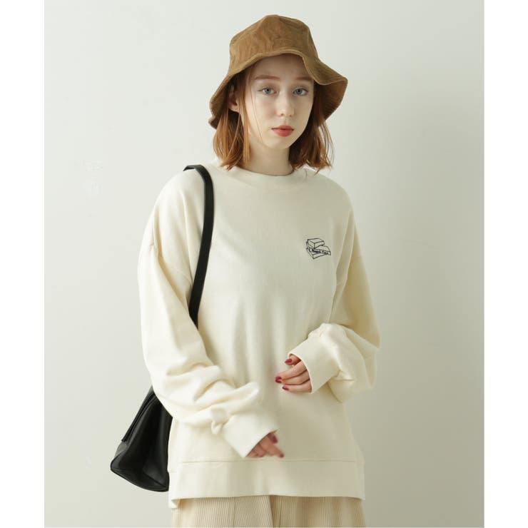 BACK刺繍裏毛プルオーバー(ジェンガ) | DOUBLE NAME | 詳細画像1
