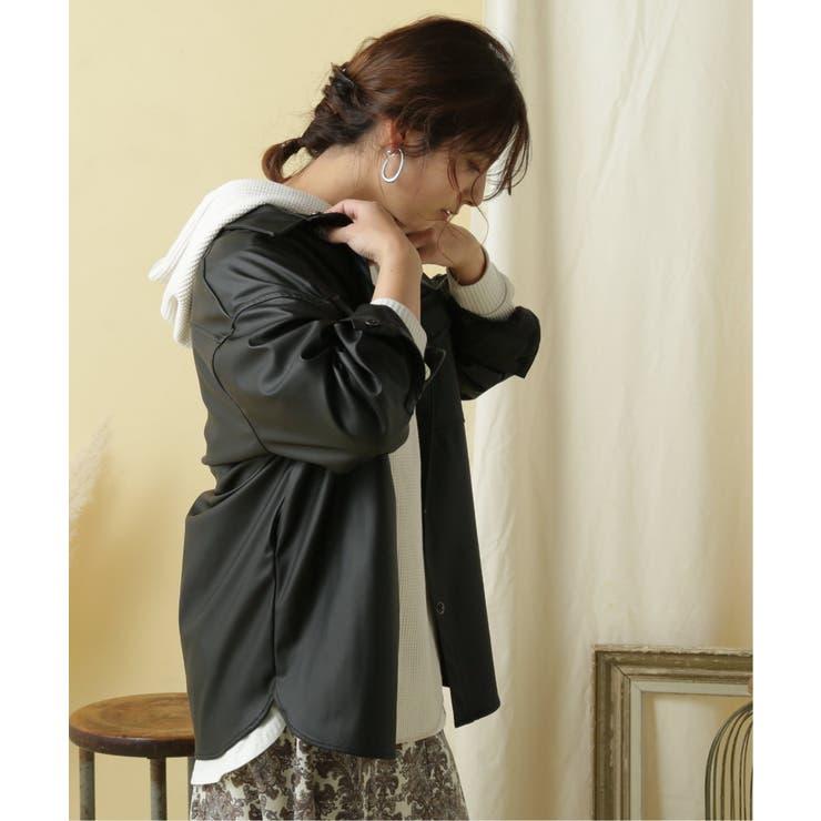 【WEB限定】エコレザーCPOシャツジャケット | frames RAY CASSIN | 詳細画像1