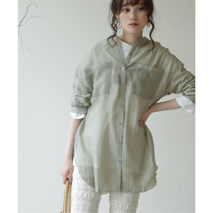 【WEB限定】バンドカラーシアーシャツ | frames RAY CASSIN | 詳細画像1