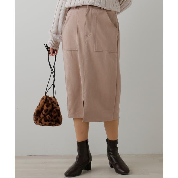 ポンチスエードナロースカート | frames RAY CASSIN | 詳細画像1