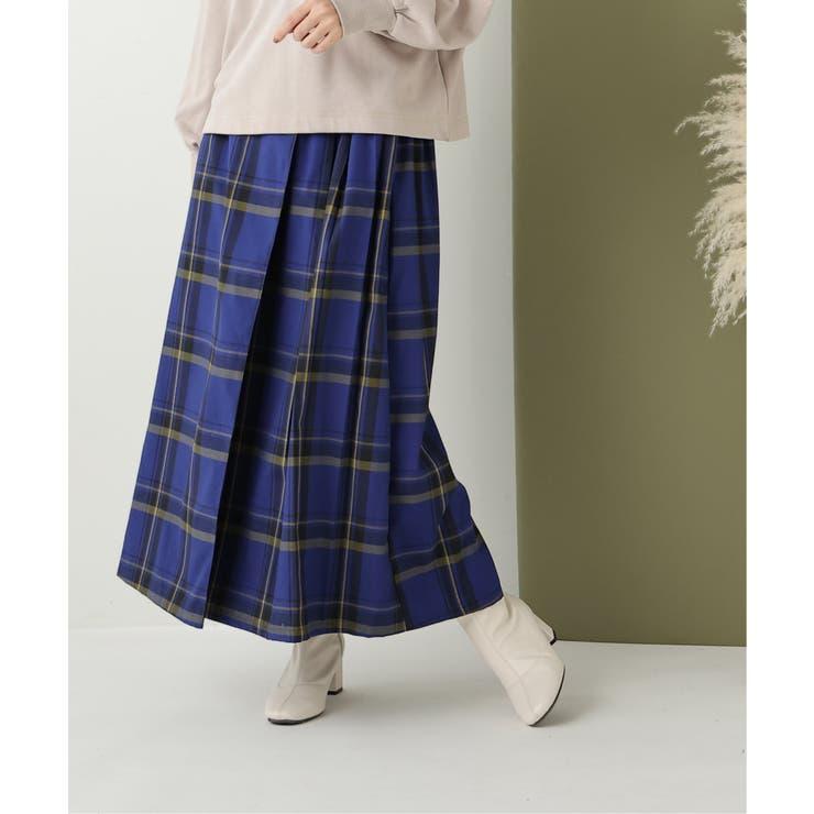 タータンチェックロングキルトスカート   frames RAY CASSIN   詳細画像1