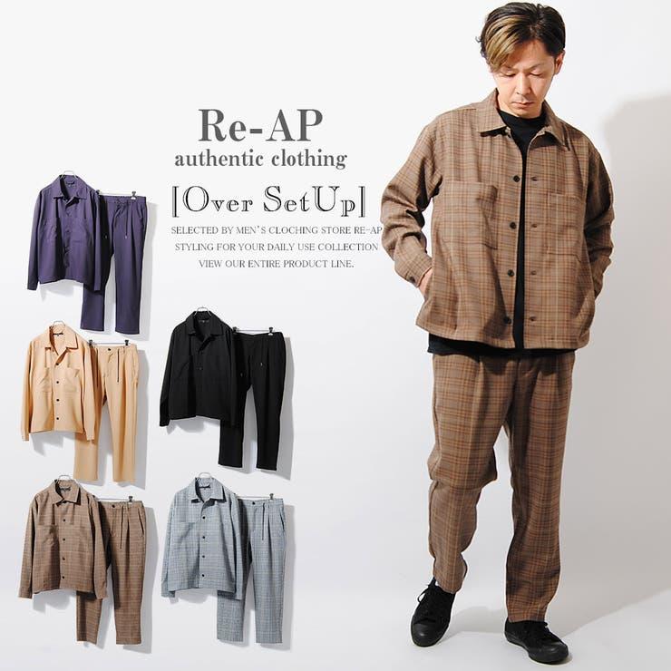 オーバーシャツ セットアップ メンズ | Re-AP | 詳細画像1