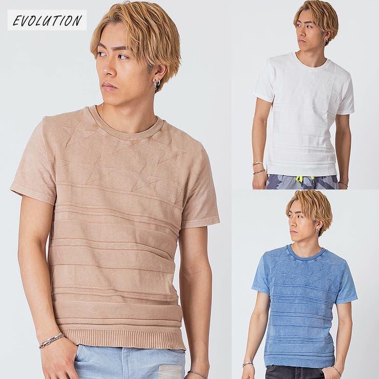ニット切替Tシャツ   REGIEVO   詳細画像1