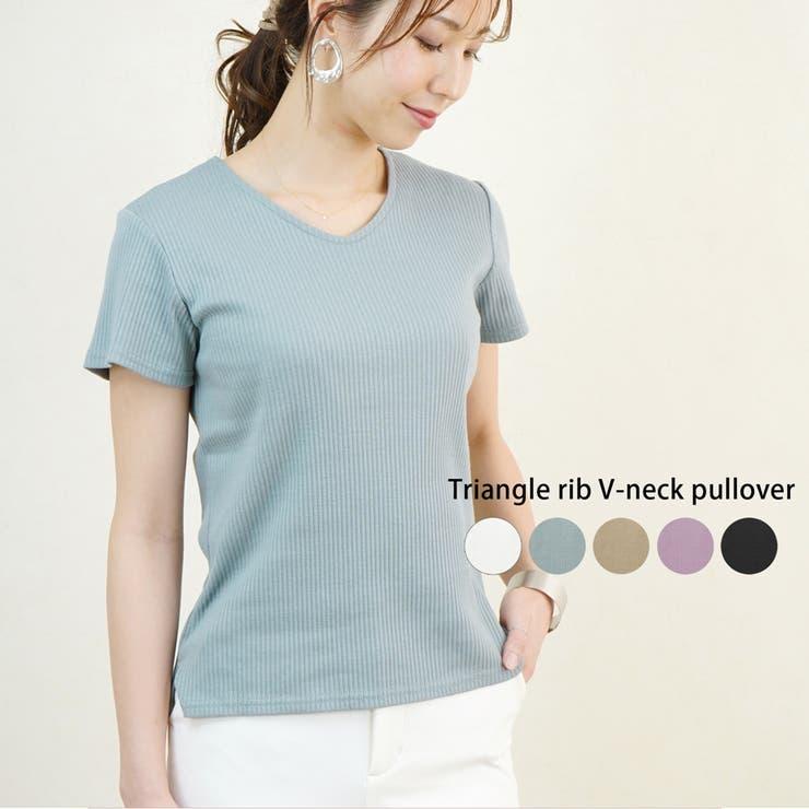 Tシャツ 半袖 リブ | LAPULE  | 詳細画像1