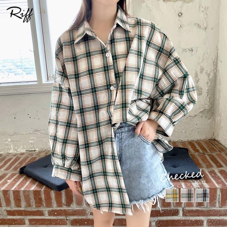 チェックシャツ ゆるシャツ 羽織り | Riff | 詳細画像1