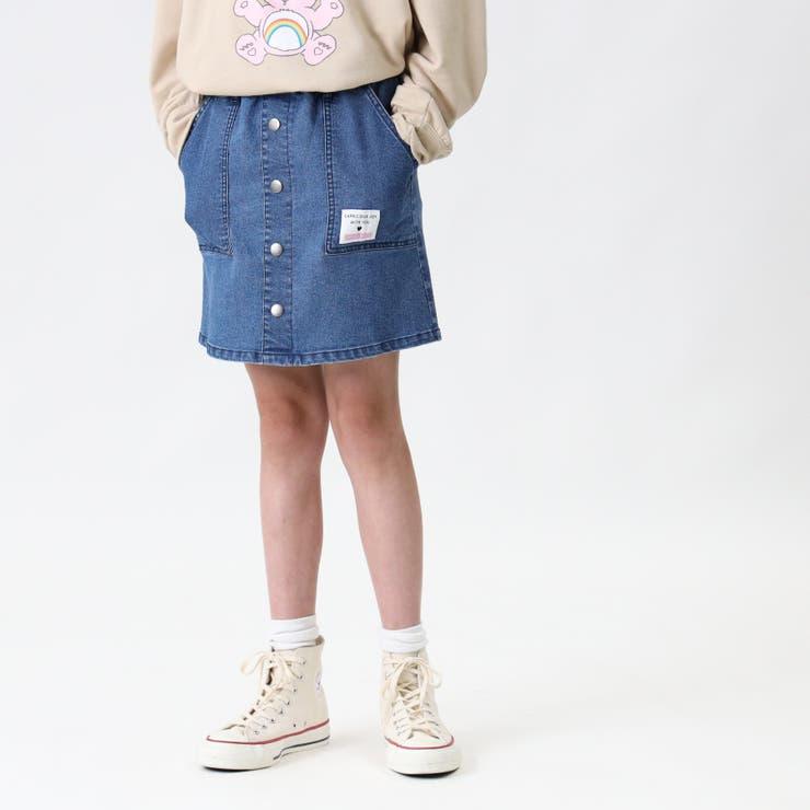 前ボタンデニムスカート Right on | Right-on【KIDS】 | 詳細画像1