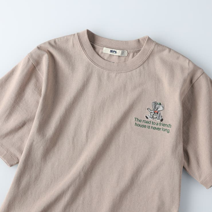 「BOXGARDEN」アニマル刺繍Tシャツ Right on   Right-on【KIDS】   詳細画像1