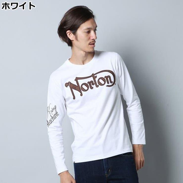 長袖Tシャツ メンズRight-on,ライトオン,63N1104,Norton,ノートン