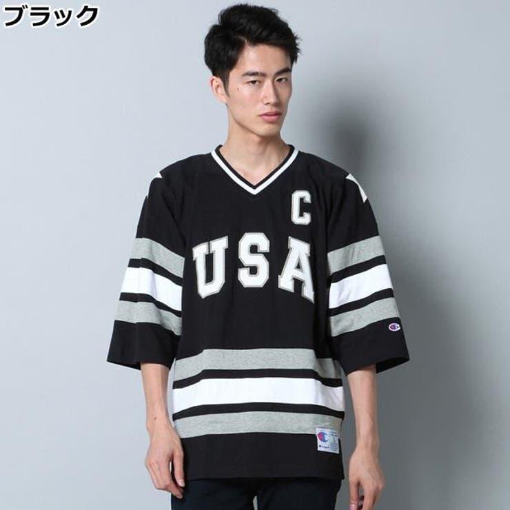 【WEB限定】USAホッケーシャツ メンズRight-on,ライトオン,C3-J432-EC,CHAMPION,チャンピオン