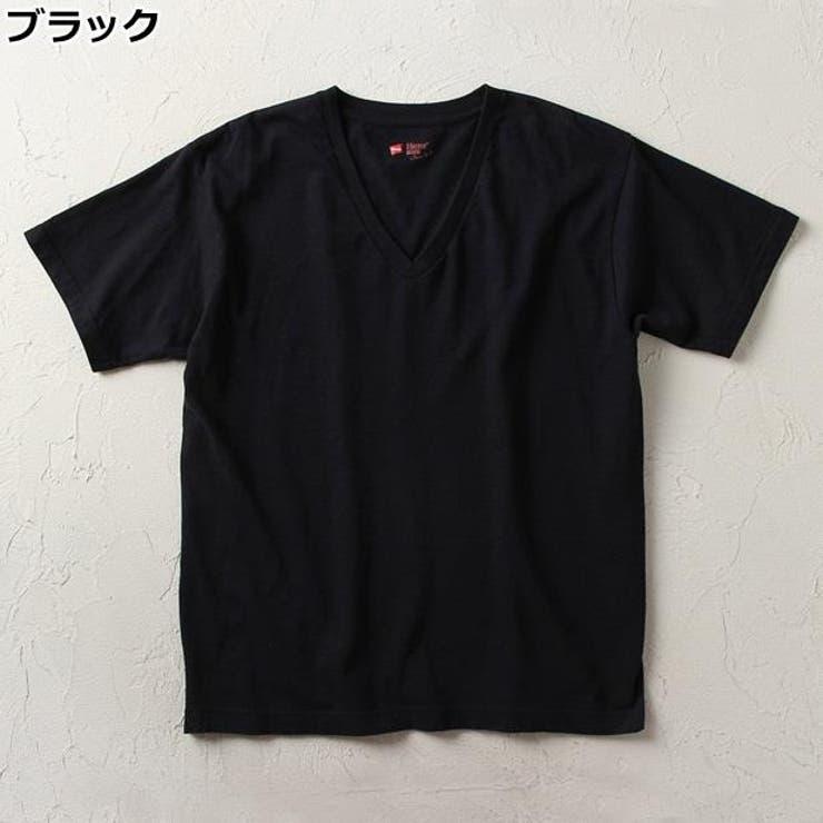 【WEB限定】ジャパンフィットシャツVネック メンズRight-on,ライトオン,H5115-BK-EC,HANES,ヘインズ