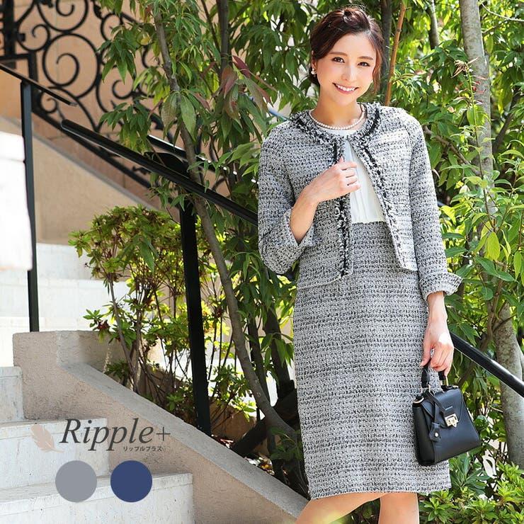 スーツ レディース ワンピース   Ripple+    詳細画像1