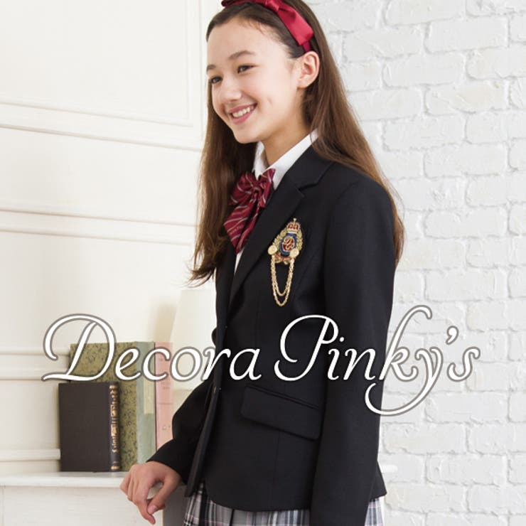 卒業式 スーツ 女の子 ブラックフォーマル 5点セット DECORAPINKY'S デコラピンキーズ 150・160・165卒服 小学校卒業式スーツ ジュニアスーツ 女児 子供スーツ服装 フォーマルスーツ