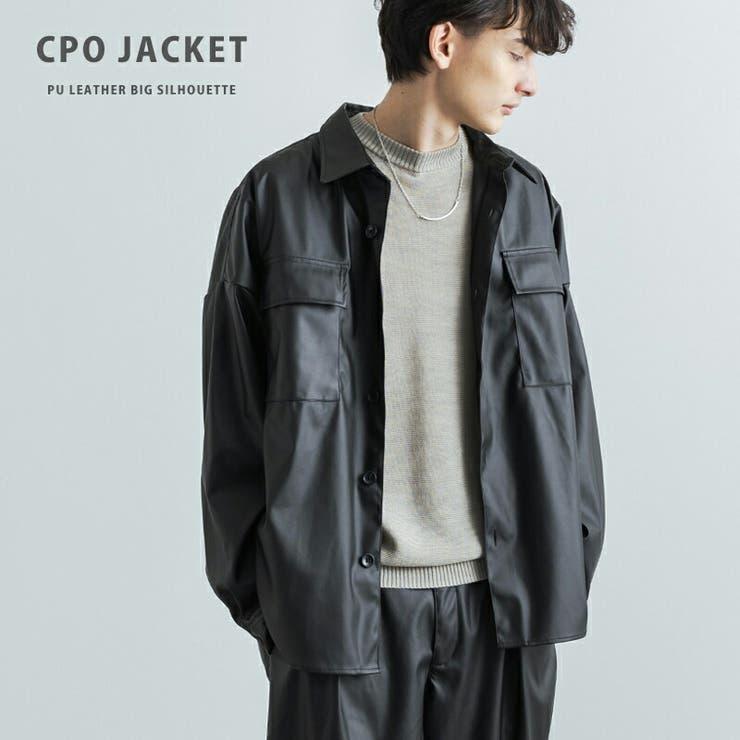 PUレザージャケット CPOシャツ メンズ   Rocky Monroe   詳細画像1