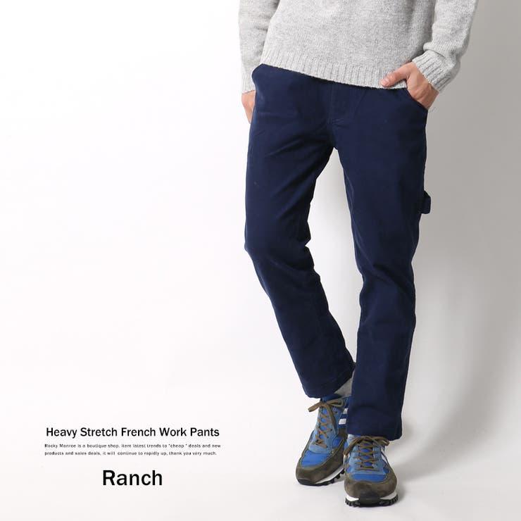 ワークパンツ メンズ ぺインターパンツ アンクルパンツ イージー ストレッチ カジュアル Ranch ランチ RA16-0616350