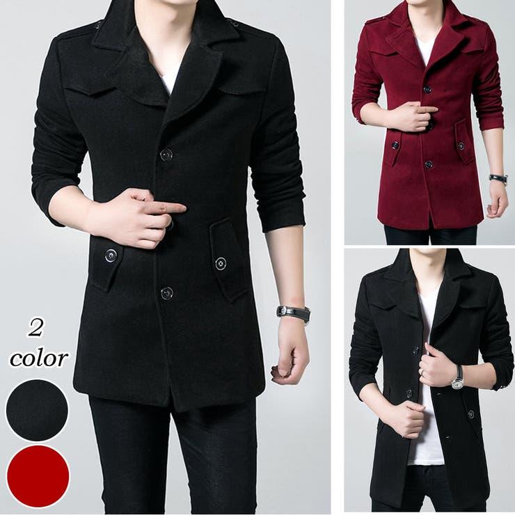 アウター コート ジャケットコート メンズ メンズファッション ロングコート ロング丈 シンプル 無地ベーシック