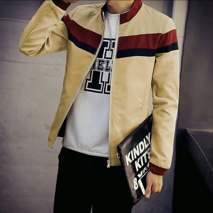 アウター ジャケット ブルゾン メンズ メンズファッション ジップアップ ジップ カジュアル ノーカラー デザイン
