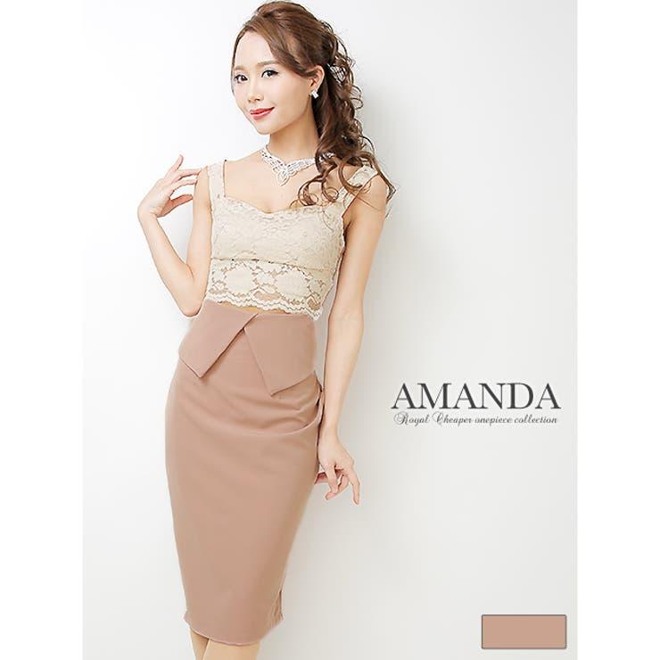 【AMANDA】【S.M.L】セパレート風レースビスチェタイトドレス | Royal Cheaper | 詳細画像1
