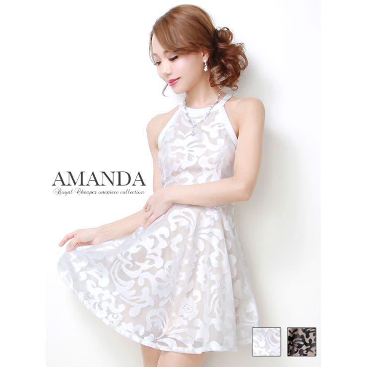 【AMANDA/アマンダ】【全2色】レースレイヤードアメスリフレアミニドレス | Royal Cheaper | 詳細画像1