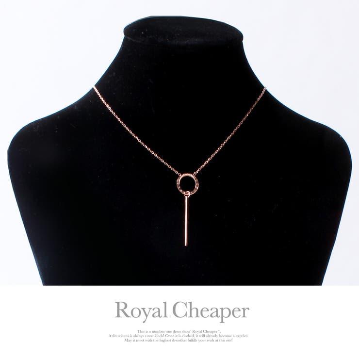 デザインリングプレートネックレス   Royal Cheaper   詳細画像1