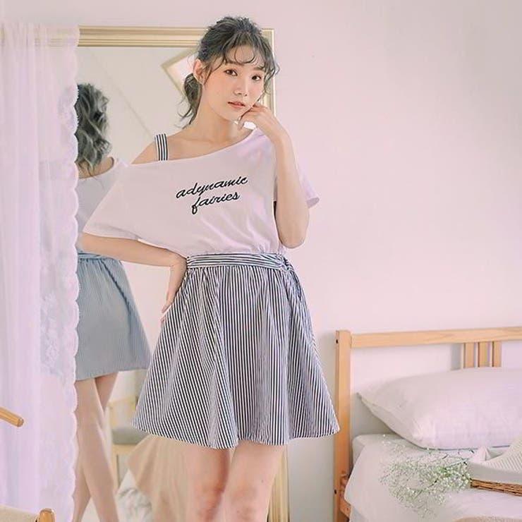 レディースファッション通販ワンショルダーデザインストライプワンピースワンピース | Ruby's Collection  | 詳細画像1