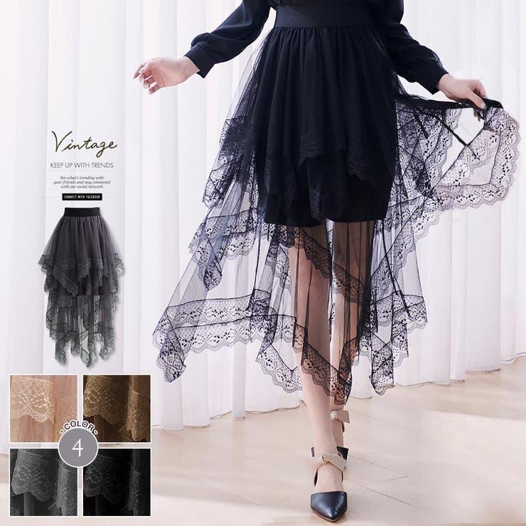 レディースファッション通販レースランダム重ねチュールスカートチュールスカート   Ruby's Collection    詳細画像1