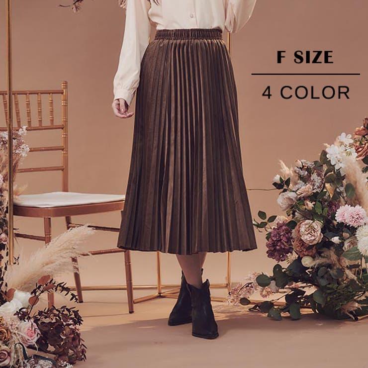 ベロア素材プリーツスカート スカート プリーツスカート | Ruby's Collection  | 詳細画像1