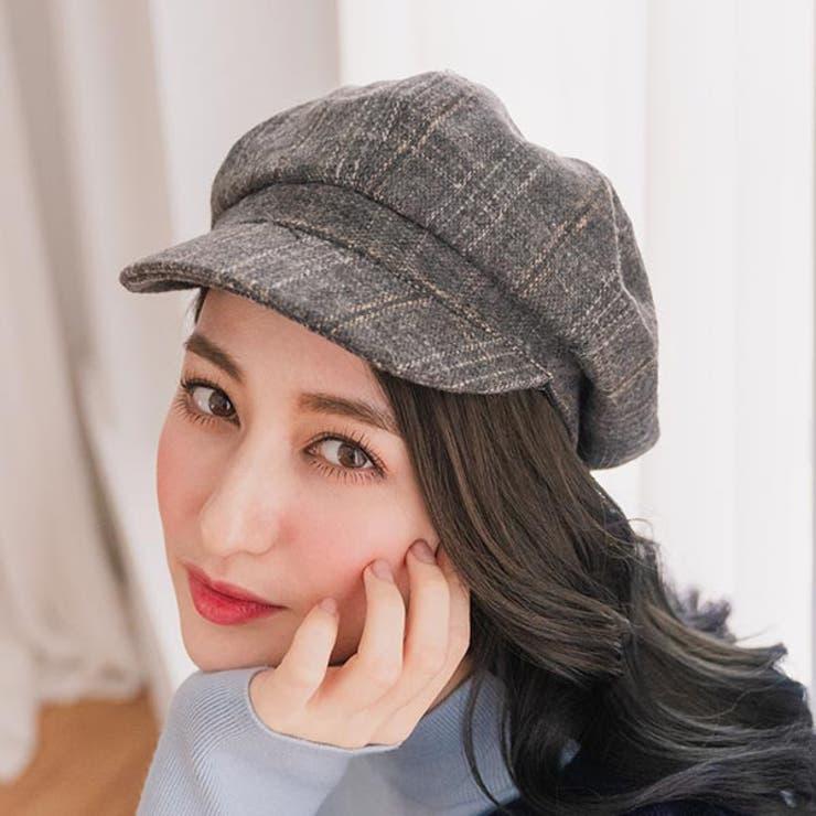 レディースファッション通販チェック柄ツイードキャスケットキャスケット 帽子   Ruby's Collection    詳細画像1